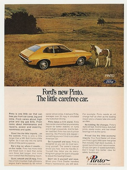 Adspast Com 1970 Ford Pinto Little Carefree Car Pony