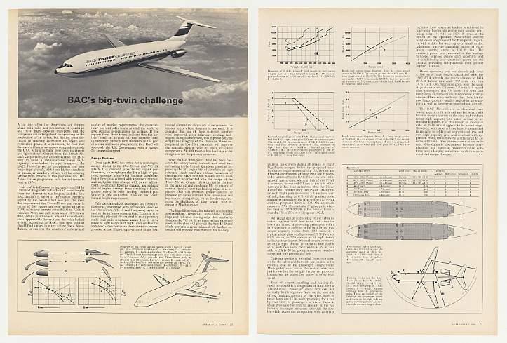 Adspast Com 1969 British Aircraft Bac Three Eleven Jet 3