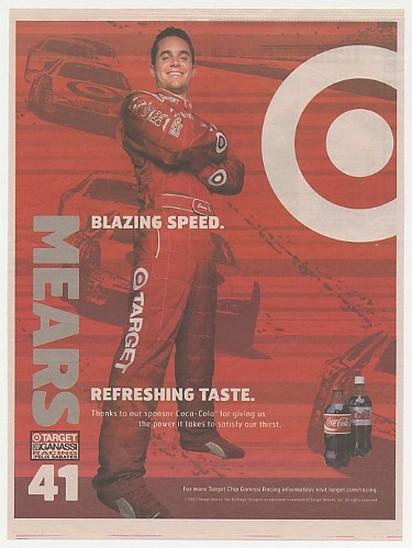 Adspast Com 2004 Nascar Casey Mears 41 Target Coca Cola Print Ad