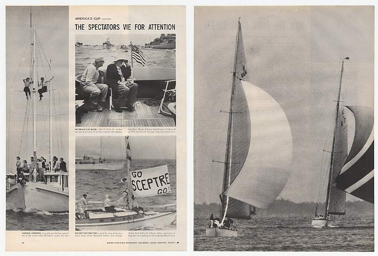 1958 America's Cup Boat Races 6-Page Photo Article