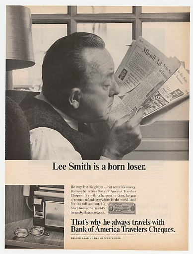1967 Lee Smith is a Born Loser Bank of America Ad
