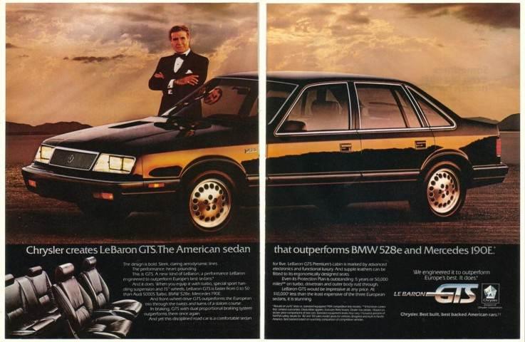 Adspast Com 1985 Ricardo Montalban Chrysler Lebaron Gts
