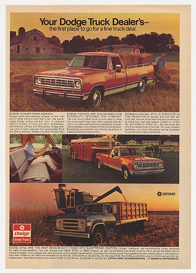 Adspast Com 74 1975 Dodge Pickup Truck Medium Duty Farm Trucks Ad