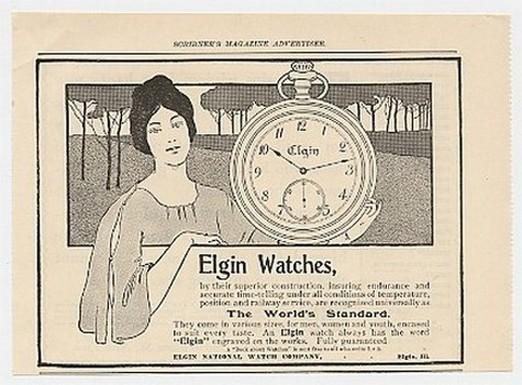 1899 Elgin Watches World's Standard Pocket Watch Ad