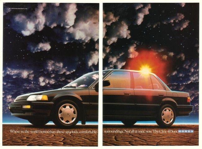 '89 1990 Honda Civic 4-Door Spacious Comfortable 3-P Ad