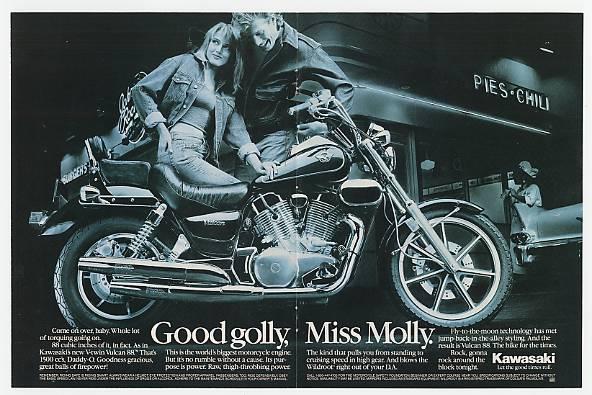 AdsPast.com - 1987 Kawasaki Vulcan 88 Motorcycle Double ...