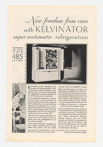 1929 Kelvinator Super-Automatic Refrigerator Ad