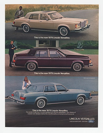 '78 1979 Lincoln Versailles Custom Roof Designs Ad