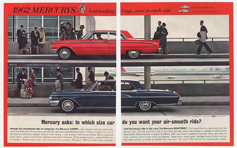 '61 1962 Mercury Comet & Monterey Air-Smooth Ride 2P Ad