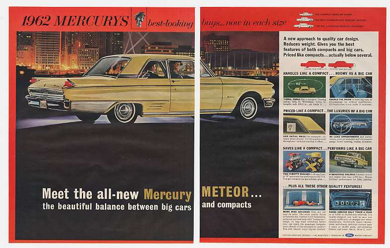 61 1962 mercury meteor new size car 3 page ad