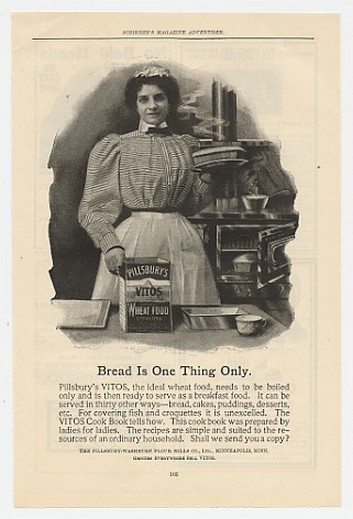 1899 Pillsbury Vitos Wheat Food Bread One Thing Only Ad