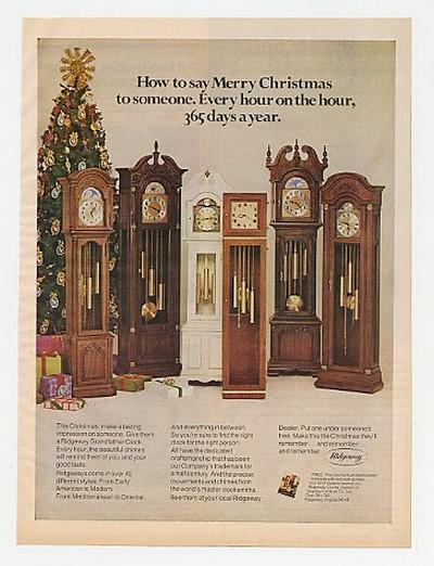 Adspast Com 1976 Ridgeway Grandfather Clocks Clock