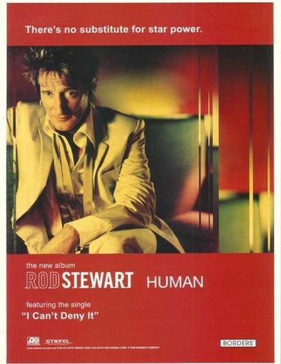 2001 Rod Stewart Photo Human Album Promo Ad