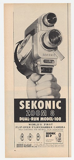 1962 Sekonic Zoom 8 Dual-Run Model 100 Camera Print Ad