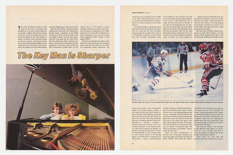 1985 Oilers Wayne Gretzky 5-Page Photo Article