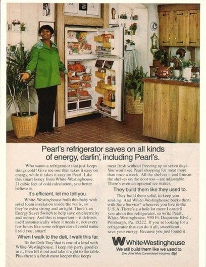 1977 Pearl Bailey White-Westinghouse Refrigerator Ad
