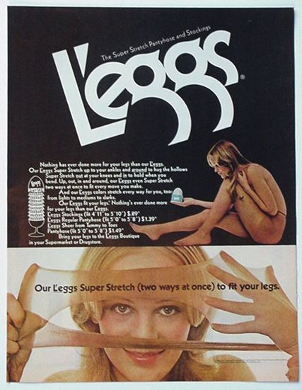 Leggs pantyhose ads