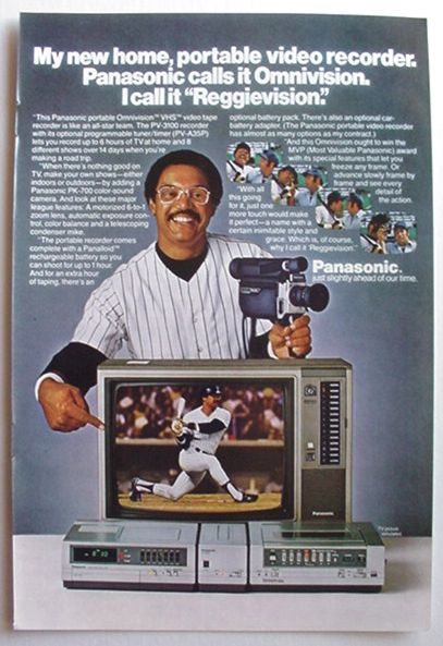The Vcr From Heck Fifty Cartoons Week Tuesday 50: 1981 Reggie Jackson Panasonic VCR Ad