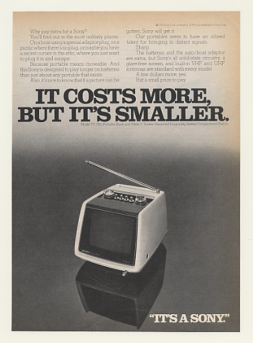 Cars For 8000 >> AdsPast.com - 1974 Sony Model 750 Portable TV Television ...