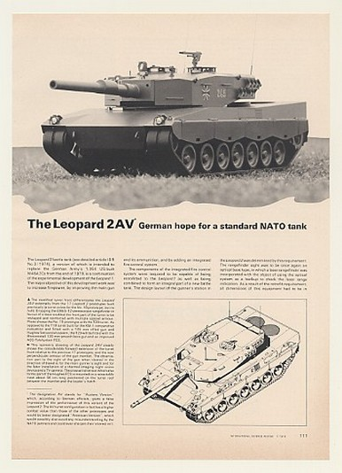 Adspast Com 1976 Leopard 2av German Battle Tank 4 Page