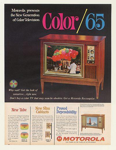 Adspast Com 1964 Motorola Color 65 Tv Television Model