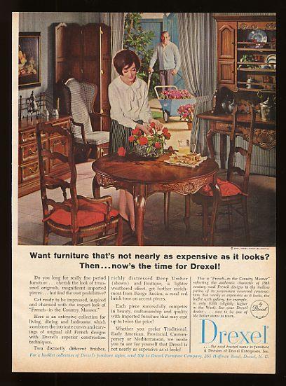 drexel dining room furniture 1960 | 1965 Drexel Furniture French Dining Room Set Print Ad | eBay