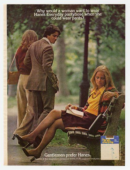 AdsPastcom 1974 Hanes Pantyhose Gentlemen Prefer Ad