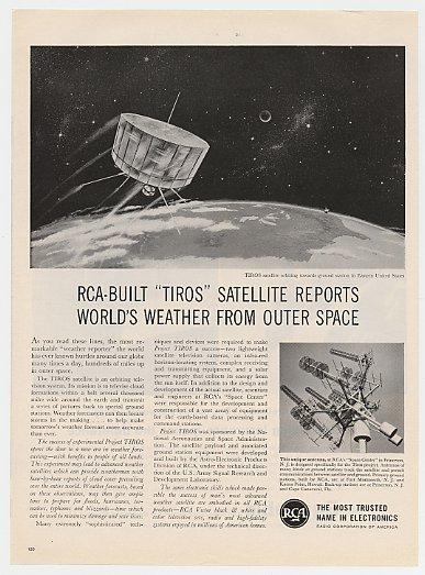Adspast Com 1960 Rca Tiros Weather Satellite Ad