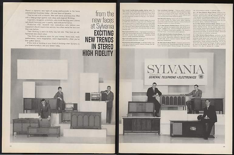 Adspast Com 1963 Sylvania Stereo Stereos 2 Page Ad