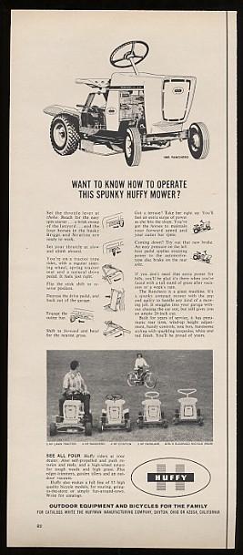 Adspast Com 1965 Huffy Ranchero Riding Mower Mowers Ad