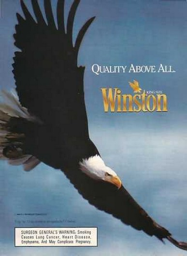Adspast Com 1990 Winston Cigarette Quality Above All