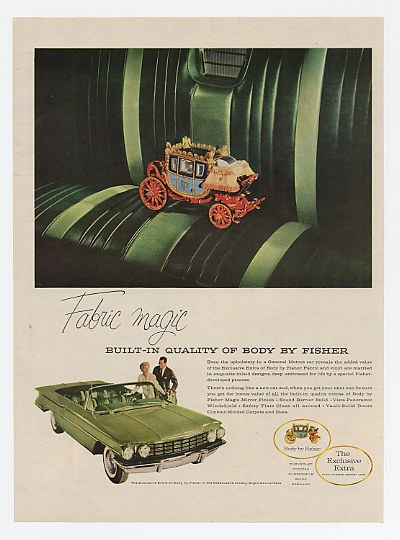 1960 Oldsmobile 98 Convertible Body by Fisher Fabric Ad