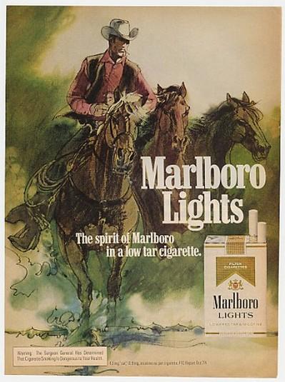 AdsPast.com - 1975 Marlboro Lights Cigarette Cowboy Horses ...